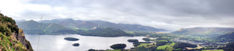 View over Derwentwater from Walla Crag