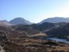 View to Great Gable and Kirk over Blackbeck Tarn