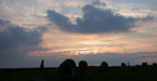 Sunset over Long Meg and her daughters